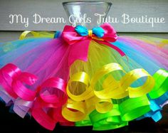Tutú arcoiris, tutú multicolor, tutú de celebración de la fiesta, Pascua tutú, tutú de cumpleaños 1, primer tutú multicolor de cumpleaños, carnaval tutu forbaby