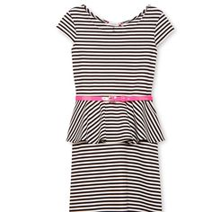Outfit for the play? Speechless® Black & White Striped Ponte Peplum Dress - Girls 7-16 - jcpenney $20