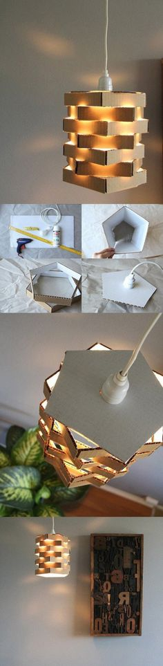 DIY Cardboard Chandeliers | DIY Creative Ideas