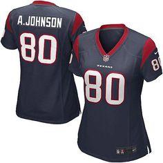 Nike Elite Womens Houston Texans #80 Andre Johnson Team Color Navy Blue NFL Jersey $109.99