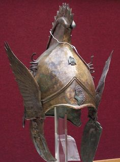 Winged greek Phrygian helm, from 400 bc.