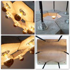 """Deckenlampen - Betonhängelampe """"FAVO fiore"""" - ein Designerstück von Uniikat-Shop…"""