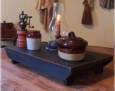 Farmhouse table riser primitive colonial bench by salmonfallsprims