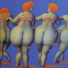 "Jeanne Lorioz - ""Les trois Grâces"" #lorioz #samagra #art #painting #grace #femme #beauty #acrylic #body #artcontemporain #contemporaryart"