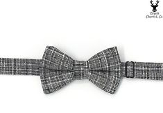 Were featuring a classic and oh so elegant boys bow tie in a black and white crosshatch pattern. It will be will be the perfect accessory for your childs next special event: wedding, recital, holiday event or cake smash photo! We also offer it in a mens size.  All our bow ties are