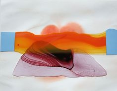 MT (WAVELENGTH), 2011, acrylic on Duralar and paper, collage, 10 x 8 inches by Katy Stone
