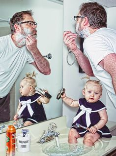 worlds best father: morning shave by Dave Engledow