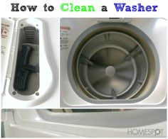 Make your washer clean itself