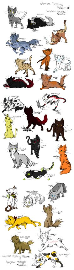 Adoptables the bobtail and the green and black one and the gray with black stripes are mine