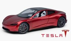 Tesla adds next-gen Roadster diecast toy in scale to its online store Tesla Roadster, New Tesla, Car Makes, Rubber Tires, Car In The World, Diecast Models, Stainless Steel Water Bottle, Car Ins, Super Cars