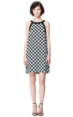 Classic Chequer Shoulder-straps Dress-$12.90 FREE SHIPPING