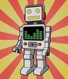 Groove Robot Art Print.  8x10. $14