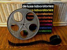 Cinema Film decorating kit One vintage by InquisitiveInventors, $15.00