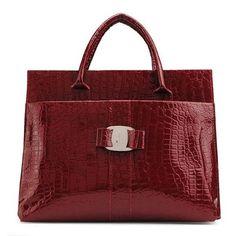 Fashion alligator pattern vintage women handbag stone grain bag
