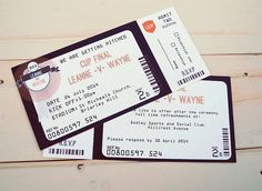 Invite for the evening party? Sport/concert style ticket