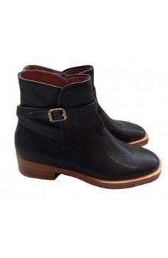 Michel #Vivien Bottines Cuir noir 38 #boots #kollas #kollasshop
