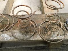 Rusty bed springs.  How to rust metal quickly, effectively, and safely!