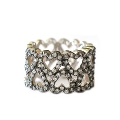 Heart Band Ring – Andreia Fuzon Jewelry Rhodium Plated