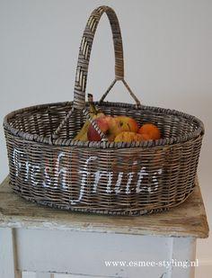 Romantic rattan fruit basket