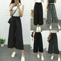Cute Office Outfits, Trendy Outfits, Fashion Outfits, Loose Pants Outfit, Culottes Outfit, Pantalon Large, Pants For Women, Clothes For Women, Indian Outfits