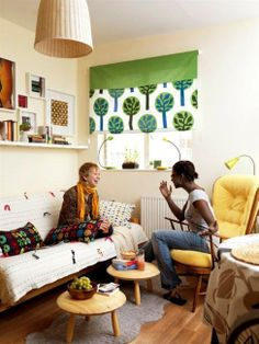 Sustainable style on a budget....chair location/position is a nice idea