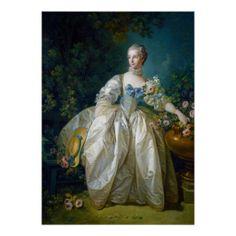 SOLD FRANCOIS BOUCHER - MADAME BERGERET portrait art Print