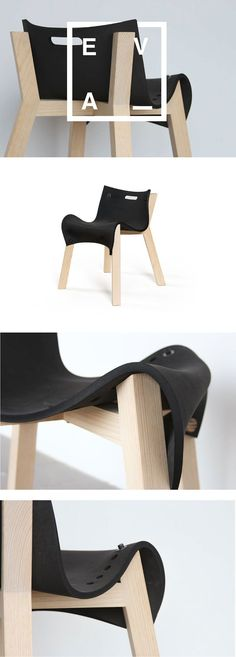 La Eva, a clever chair design concept by David Ortiz.David Ortiz is a San Luis Potosi, Mexico based industrial designer. The talented designer has created this interesting chair concept called 'La … Design Furniture, Chair Design, Cool Furniture, Furniture Inspiration, Design Inspiration, Interior Inspiration, Ergonomic Chair, Mid Century Modern Design, Cool Chairs