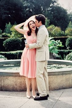 love pretty relationship couple girl cute disney happy dress movie forever Awesome kiss lovely brunette nature smile together anne hathaway ...
