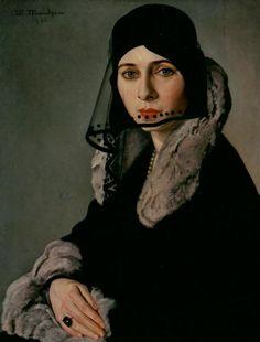 Martin Mendgen (German, 1893-1970) : Lady in Mourning, 1930. Stadtmuseum  Simeonstift Trier, Trier, Germany.