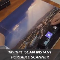 iScan Instant Portable Scanner The Instant Portable Scanner allows you to quickly and efficiently scan all important documents and transfer them via USB to any computer. This scanner is completely portable and works from batteries, no wires needed!