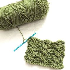 How to #Crochet a Thick Cable Stitch