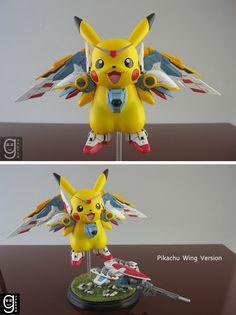 Pikachu + Gundam. Cute~