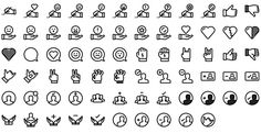 Native line icons pack - Round Icons Premium All Icon, Icon Set, Icon Tattoo, Icon Pack, Line Icon, Icon Design, Small Tattoos, Icons