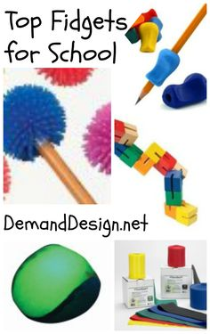 Top Sensory Fidgets for School Great for Sensory Bins and Baskets, homeschool, and OT and pediatrician offices!  Pinned by Gail Zahtz