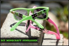 DIY Minecraft Party Favor Sunglasses