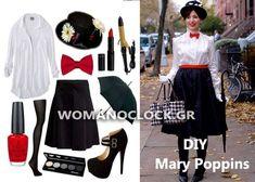 8 Εντυπωσιακές DIY Αποκριατικες Στολες Γυναικειες 2016 | womanoclock.gr Mary Poppins, Cheer Skirts, Carnival, Costumes, Costume Ideas, Halloween, Crafts, Diy Ideas, Fashion
