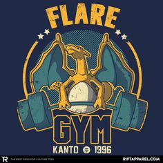Flare Gym T-Shirt - Pokemon T-Shirt is $11 today at Ript!