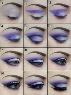 Go to http://make-it-all-up.blogspot.co.uk/2014/01/a-purple-look-tutorial.html for full instructions!