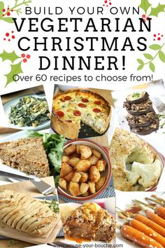 vegetarian christmas recipes Build your own vegetarian Christmas dinner! Over 60 recipes to choose from - just pick one dish from each category and youve got a perfect, irresistible vegetarian or vegan Christmas dinner! Veggie Christmas, Vegan Christmas Dinner, Xmas Food, Christmas Cooking, Holiday Dinner, Christmas Parties, Christmas Treats, Edible Christmas Gifts, Christmas Christmas