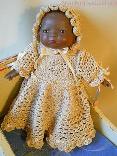 bye lo  | Bye Lo baby doll reproduction, small vintage bisque African baby doll ...