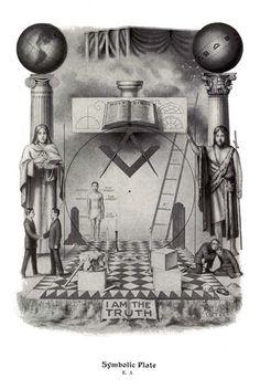 RARE Set Masonic Symbolic Plate art ring 12x18 chart trestle tracing board print | eBay