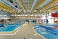 Lightruss System offers an indirect lighting solution for natatorium spaces reducing glare on water's surface