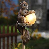 Sammy Squirrel Solar Outdoor Garden Stake Light