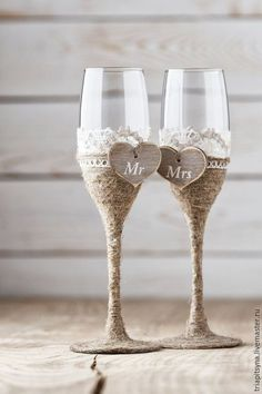 Glasses for bride and fiance