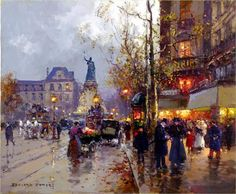 Avenue De L'Opera - Edouard Cortes is one of the paintings my Dad bought in 1977 when I was 10 years old. I did not see the other painting. This is not the painting, but on the sight.