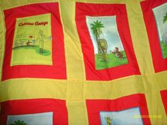 Curious George goes to the Zoo baby quilt by TheComfyArmchair