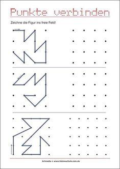punkte verbinden muster bertragen visuomotorik bungen f r die vorschule kindergarten. Black Bedroom Furniture Sets. Home Design Ideas