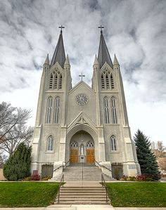 St. Patricks Catholic Church in Medicine Hat, Alberta, Canada by The Kav, via Flickr..this is a gorgeous church both inside and out!