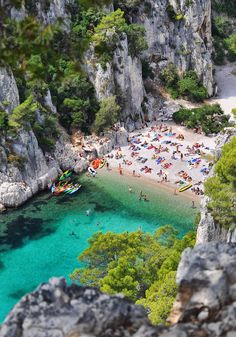 Calanque d'En-Vau, France, between Marseille and La Ciotat Places Around The World, Oh The Places You'll Go, Places To Travel, Places To Visit, Dream Vacations, Vacation Spots, Beach Vacations, Best Beaches In Europe, Magic Places