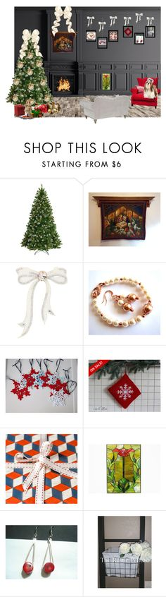 """Cozee Family Christmas"" by cozeequilts ❤ liked on Polyvore featuring National Tree Company, MARBELLA, As Is and rustic"
